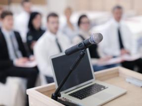 Presentation Laptop Mikrofon